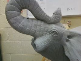 War Elephant sculpture work in progress by Rathsi