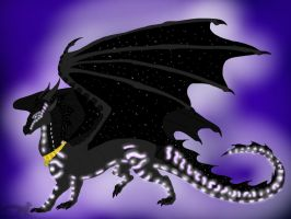 Wings of Fire: Shadowsneak the Sea/NightWing by BlackDragon-Studios