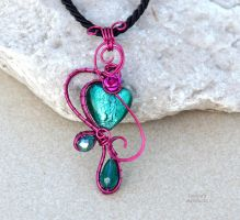 Fairy pendant with glass heart! by IanirasArtifacts