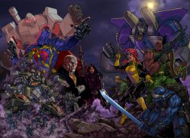 Transformers vs. GIJOE by DanNortonArt