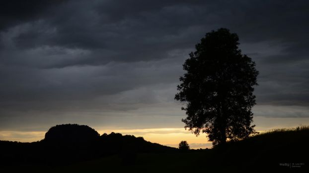 Sunset in Weissig I by cybercake