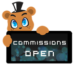 Freddy Commissions Open Stamp by InkCartoon