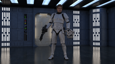 Luke in Stormtrooper Disguise on The Death Star by Dovahkiin1994