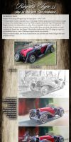 Tutorial in Oils - Painting a Bugatti Type 55 by donpackwood