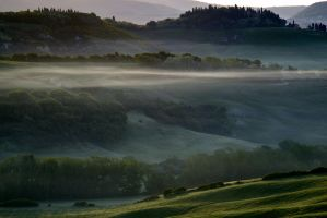 Tuscany in the fog 3 - 5:32 AM by CitizenFresh