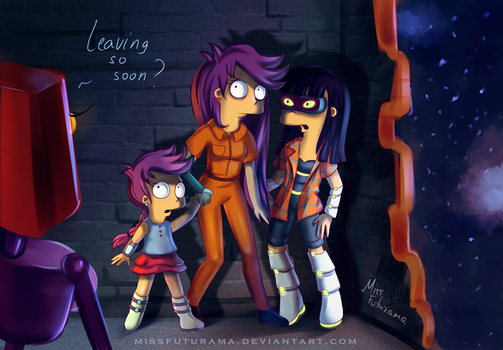 Leaving so soon? by MissFuturama