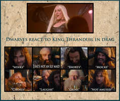 Thranduil Crossover - Dwarves react by Faerietopia