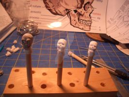 More Clay Skulls 1 by SudsySutherland