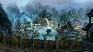 Heroes VI Sanctuary city by JeanArchi