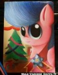 MLP OC Electric Television Traditional art by Electric-Television