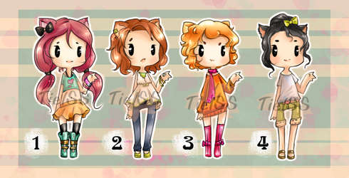 Adoptables 13 Paypal / Points   4/4  OPEN by Tielss