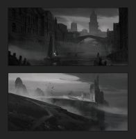 Composition sketches 1 by artofjokinen