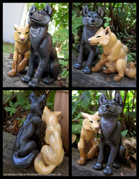Spike And Macy Wolves Wedding Topper by WildSpiritWolf