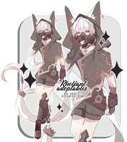 closed | Adoptable Auction| Fennec Fox by Rhe-Adopts