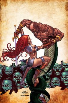 Red Sonja VS Thulsa Doom by maehao