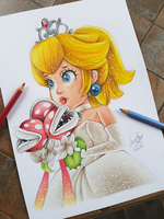 Princess Peach (Super Mario Odyssey) Drawing by Mangadroid643
