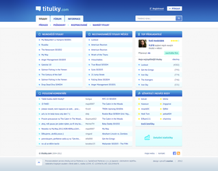 Redesign of Titulky.com by exarion-cz
