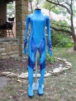 zero suit samus costume front by hollymessinger