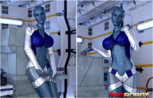 Asari Collage by Redrobot3D