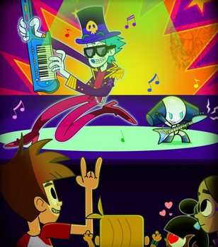 Art Trade- Rocking Out by TheBig-ChillQueen