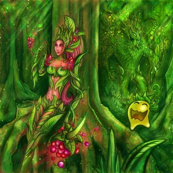 Zyra and Maokai new skin (fruit) by Tonig2