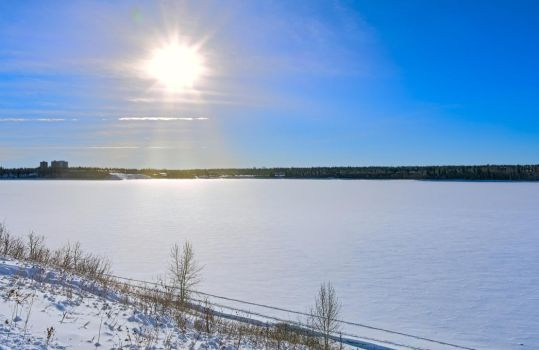 North Glenmore Park Frozen Glenmore Reservoir 1 by thefantasticone21