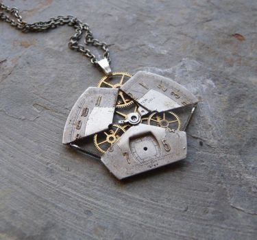 Revelator (Exploded watch face pendant) by AMechanicalMind