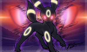 Umbreon's Mean Look by JA-punkster