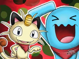 Meowth and Wobbuffet