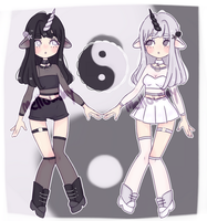YinYang Unicorn twins adopt [CLOSED] thank you!! by mellowshy
