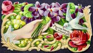 Victorian Calling Card - True Friends by Yesterdays-Paper