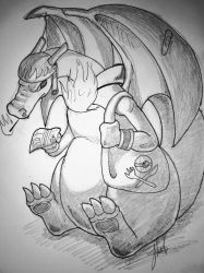 Pokemon cafe #6 Charizard by axemsir