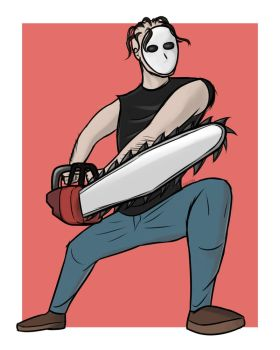 Chainsaw man from Zombies Ate my Neighbors by DerianDraws