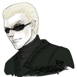 Wesker sketch by Silent-Neutral