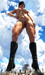 Giantess Lucy Towering Over Us All - 2 by Tegra764
