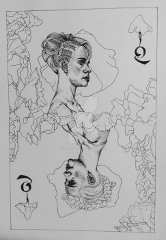 Queen of Spades WIP by SamanthaBill