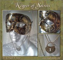Keeper of Secrets Mask Heart Lock Variant by Angelic-Artisan