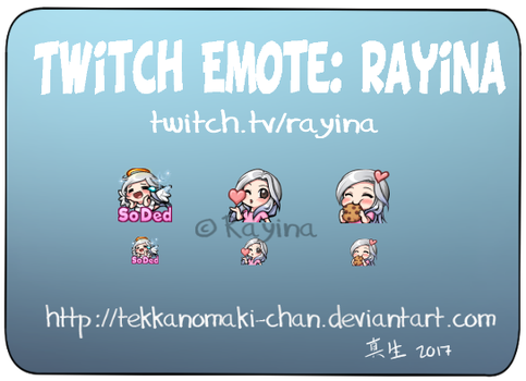 Commission: Twitch Emote for Rayina by TekkanoMaki-chan