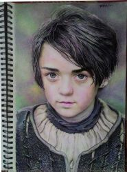 Arya Stark/Maisie Williams Portrait by TheComicArtist