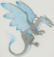 Mega Charizard X by Fantasybond