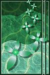 Emerald Fractal Scrapbooking with Flowers by KirstenStar