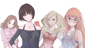 Persona 5 all girls by alichiishidou