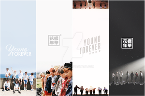 Lockscreen and Bookmark BTS by linhchinie