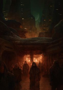 The emperor in the streets of Arrakeen by MarcSimonetti