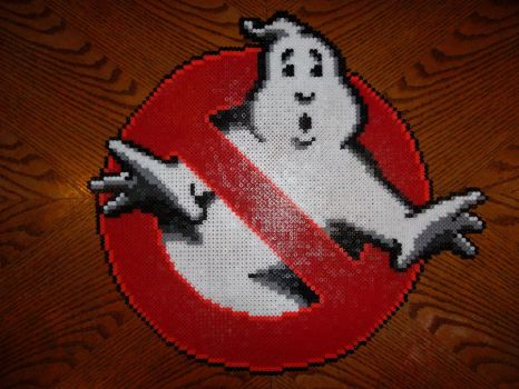 Perler Bead Ghost Busters Logo by EP-380