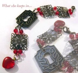 What She Keeps In bracelet by TheBrassGlass