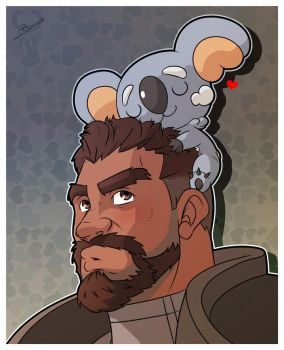 Overwatch x Pokemon - Gabriel Reyes and Komala by leomon32