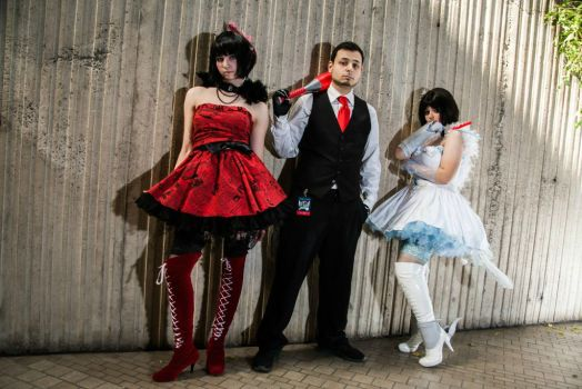 Melanie, Militia, and Junior Cosplay from RWBY by Tejnin