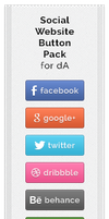 Social Website Button Pack by jonarific