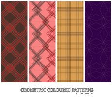 Geometric Coloured Patterns by AlenaJay